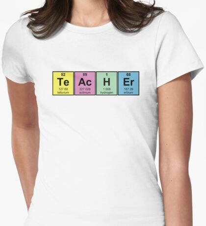 Science Teacher Chemical Elements Womens Fitted T-Shirt