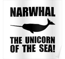 Narwhal Unicorn Poster