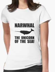 Narwhal Unicorn Womens Fitted T-Shirt