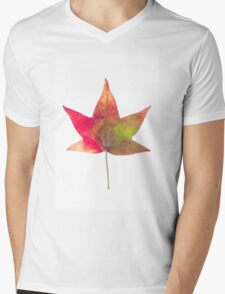 The colourful Sugargum leaf Mens V-Neck T-Shirt