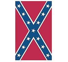 Confederate, Southern Cross, Rebel, Dixie, Flag, America, American, Portrait, Pure & Simple, pre USA Photographic Print