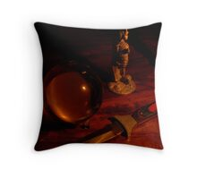 Objects in Candlelight - R Throw Pillow