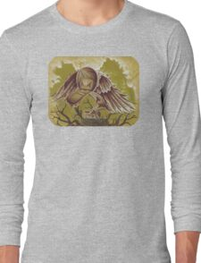 The Courier, Surreal Bird In Nature Long Sleeve T-Shirt
