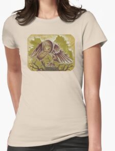 The Courier, Surreal Bird In Nature Womens Fitted T-Shirt