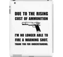 Ammunition Warning Shot iPad Case/Skin