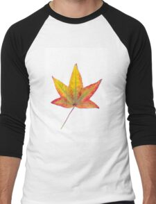 The colourful Sugargum leaf Men's Baseball ¾ T-Shirt
