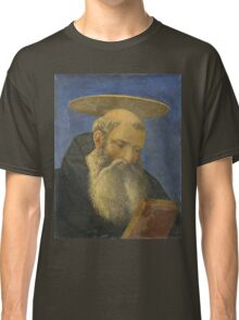 Domenico Veneziano - Head Of A Tonsured, Bearded Saint Classic T-Shirt