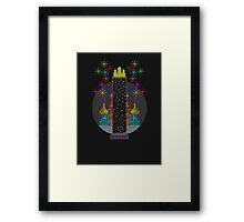 Tetris Tower Framed Print