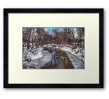 Mid Winter Reflections Framed Print