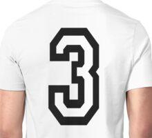 3, TEAM SPORTS, NUMBER 3, THREE, THIRD, Competition, Tri,  Triple Unisex T-Shirt