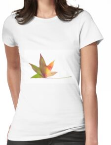 The colourful Sugargum leaf Womens Fitted T-Shirt