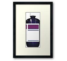 Purple Bottle Framed Print