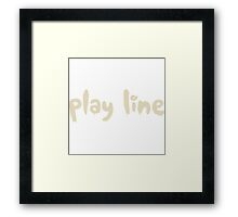 Glitch Abbasid Land crown game play line text Framed Print