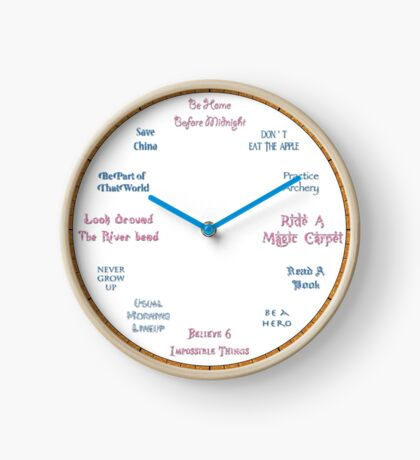 Time To Be A Hero Kid - Hercules Inspired Clock Clock