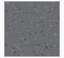 Gray Mosaic One Piece - Short Sleeve