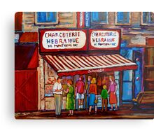 PAINTINGS OF MONTREAL STREETS SCHWARTZ'S HEBREW DELI Metal Print