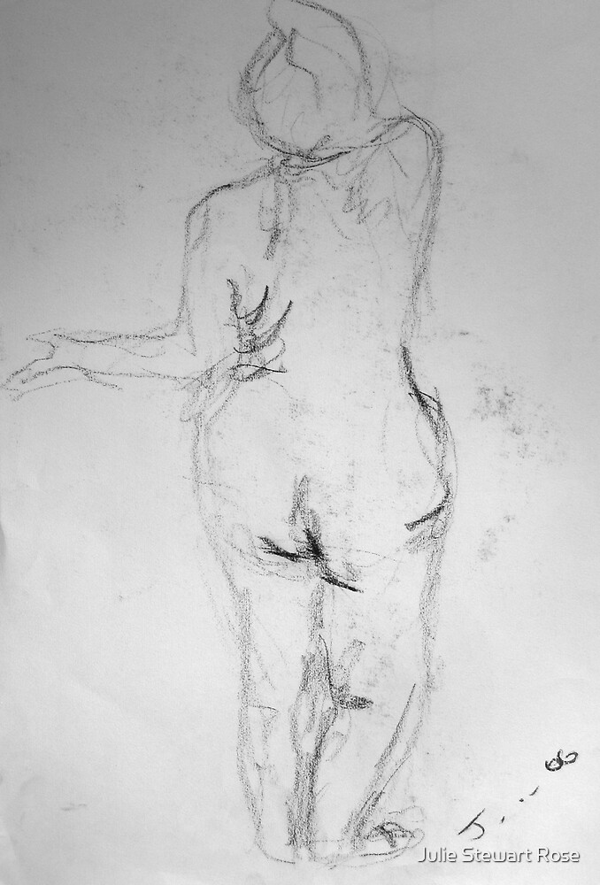 Female Nude Pencil by Julie Stewart