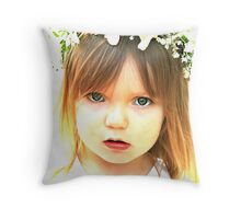 Flower Girl Throw Pillow