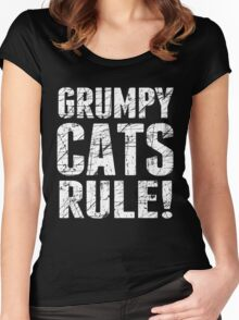 Grumpy Cats Rule! Women's Fitted Scoop T-Shirt