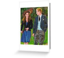 WILLS AND KATE Greeting Card