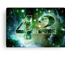 Forty Two Canvas Print
