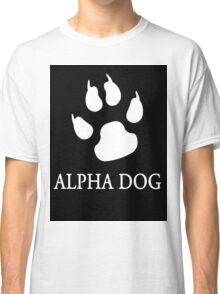Alpha Dog paw print - white Classic T-Shirt