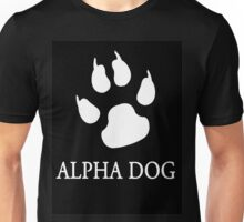 Alpha Dog paw print - white Unisex T-Shirt