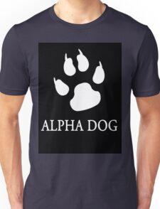 Alpha Dog paw print - white Unisex T-Shirt