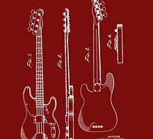 Fender Bass Guitar Patent-1953 by Barry  Jones
