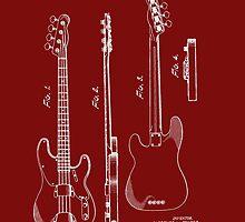Fender Bass Guitar Patent-1953 by Barry  Jones