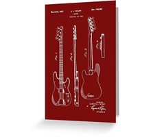 Fender Bass Guitar Patent-1953 Greeting Card