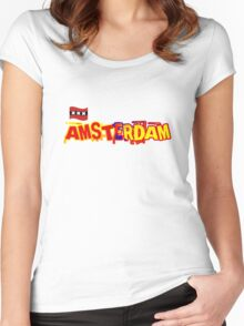 AMSTERDAM Women's Fitted Scoop T-Shirt