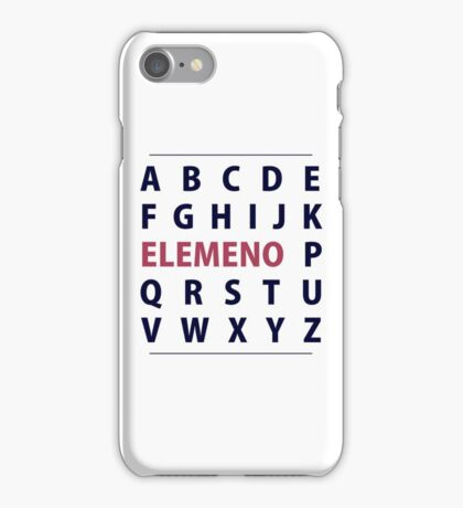 English Alphapbet ELEMENO Song iPhone Case/Skin