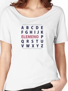 English Alphapbet ELEMENO Song Women's Relaxed Fit T-Shirt