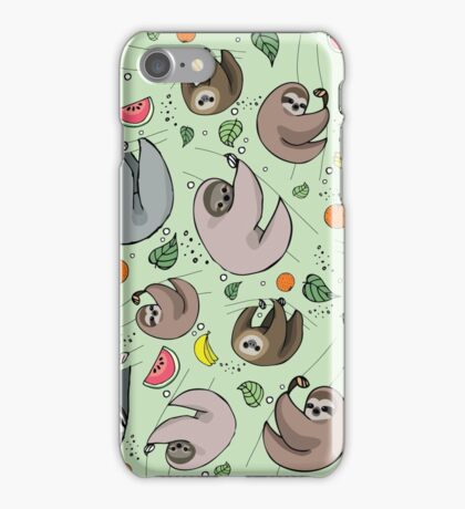 Sloth Party iPhone Case/Skin