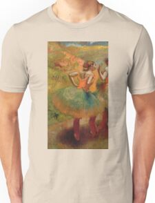 Edgar Degas - Dancers Wearing Green Skirts Unisex T-Shirt
