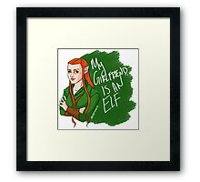 Tauriel - My Girlfriend is an Elf Framed Print