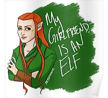 Tauriel - My Girlfriend is an Elf Poster