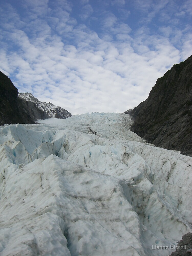 Where the glacier meets the sky by Lianne Bissell
