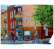 PAINTINGS OF MONTREAL STREETS WILENSKY'S LUNCH COUNTER Poster