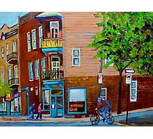 PAINTINGS OF MONTREAL STREETS WILENSKY'S LUNCH COUNTER Photographic Print