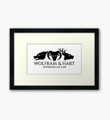 Wolfram & Hart Framed Print