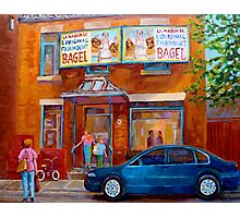 PAINTINGS OF MONTREAL FAIRMOUNT BAGEL SHOP Photographic Print