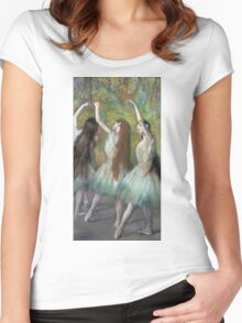 Edgar Degas - Green Dancers Women's Fitted Scoop T-Shirt