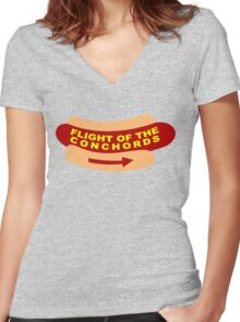 Flight of the Conchords Band Sign Women's Fitted V-Neck T-Shirt