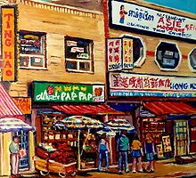 CHINATOWN MONTREAL by Carole  Spandau