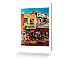 CHINATOWN MONTREAL Greeting Card