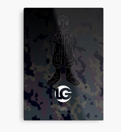 LG - The Modern Man - Art Toy Artwork - Camouflage (Lilac) Metal Print