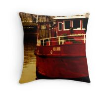 Chicago Fire Boat Throw Pillow