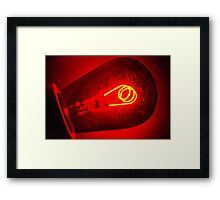 Old KODAK Darkroom Safelight Framed Print